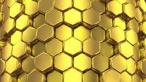 Abstract Background of Golden Honeycombs stock video footage