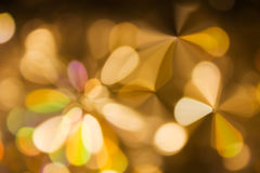 Abstract background golden light event night Xmas theme Stock Image