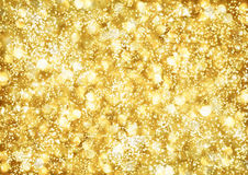 Abstract background of golden lights Stock Photos