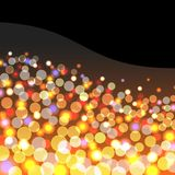 Abstract background with golden lights Stock Photo