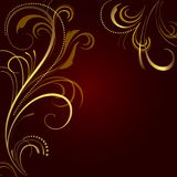 Abstract background with golden ornament Stock Image