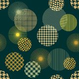 Japanese golden print. Seamless vector pattern with different geometric shapes. Stock Photography