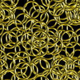 Abstract background with golden rings Stock Photography
