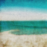 Abstract background. Golden sand beach with blue Royalty Free Stock Photos
