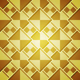 Abstract background with golden squares. Template for design Royalty Free Stock Photos