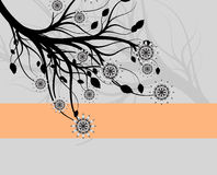 Abstract background - a graceful branch of a tree. Collection abstract a backgrounds - silver flowers Stock Image