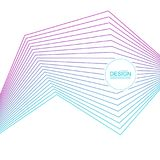 Abstract background with gradient color lines. Abstract background with gradient color refracted lines. Futuristic hipster vector illustration royalty free illustration