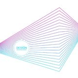 Abstract background with gradient color lines. Abstract background with gradient color refracted lines. Futuristic hipster vector illustration stock illustration