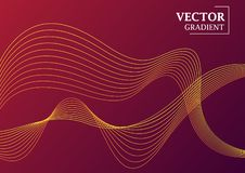 Abstract background with gradient texture, geometric pattern with lines. Violet and red gradient with ornate in the form of waves. Art for business brochure royalty free illustration