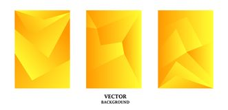 Abstract background with gradient texture, geometric pattern with polygon. Golden gradient. Art for business brochure,  cover design royalty free illustration