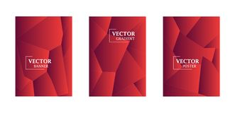 Abstract background with gradient texture, geometric pattern with polygon. Red gradient. Abstract background with gradient texture, geometric pattern with vector illustration