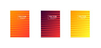 Abstract background with gradient texture, geometric pattern with rectangle In the form of blinds. Golden, red, violet gradient. Art for business brochure stock illustration