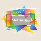 Abstract background with gradient triangles. And decorative elements stock illustration