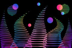 Abstract background gradient waves and circles royalty free illustration