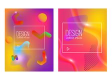 Abstract background with gradient waves and dynamic shape composition. Design element for poster, card, flyer,presentation, brochu. Res,cover. Vector Royalty Free Stock Image