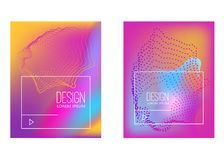 Abstract background with gradient waves and dynamic shape composition. Design element for poster, card, flyer,presentation, brochu. Res,cover. Vector Royalty Free Stock Images