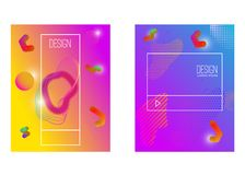 Abstract background with gradient waves and dynamic shape composition. Design element for poster, card, flyer,presentation, brochu. Res,cover. Vector Stock Images