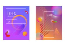 Abstract background with gradient waves and dynamic shape composition. Design element for poster, card, flyer,presentation, brochu. Res,cover. Vector Royalty Free Stock Photos