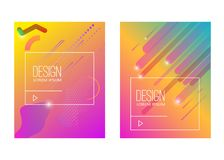 Abstract background with gradient waves and dynamic shape composition. Design element for poster, card, flyer,presentation, brochu. Res,cover. Vector Stock Photography