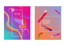 Abstract background with gradient waves and dynamic shape composition. Design element for poster, card, flyer,presentation, brochu. Res,cover. Vector Stock Image