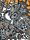 Abstract background. In graffiti style Stock Image