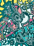 Abstract background in graffiti style Royalty Free Stock Image