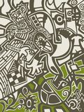 Abstract background in graffiti style Royalty Free Stock Photos