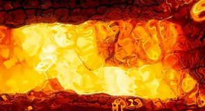 Abstract background graphic, burning fire and flame structures. Stock Photo