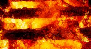Abstract background graphic, burning fire and flame structures. Stock Image