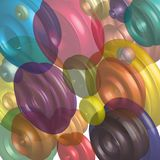Abstract background graphic geometric three-dimensional shapes vector graphics Stock Photo