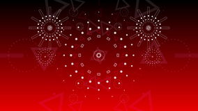 Abstract background Graphical fireworks explosion to 2016 4K stock video
