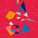 Abstract background. Abstract graphics a background of different polygons stock illustration
