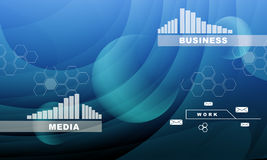 Abstract background with graphs. Abstract blue background with graphs and business words Stock Photo