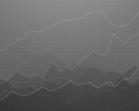 Abstract Background with Graphs Stock Image