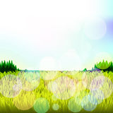 Abstract background with grass and bokeh. Raster. 1 Royalty Free Stock Photography