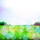 Abstract background with grass and bokeh. Raster. 2 Stock Photos