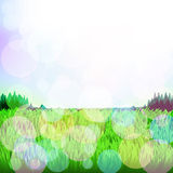 Abstract background with grass and bokeh. Vector. 5. Vector Stock Illustration