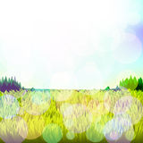 Abstract background with grass and bokeh. Vector. 4. Vector vector illustration