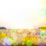 Abstract background with grass and bokeh. Vector. 2. Vector Royalty Free Stock Image