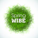 Abstract background, grass effect for posters, banners and wallpapers. Spring wibe slogan. Ilustration for print. Abstract background, grass effect for posters stock illustration