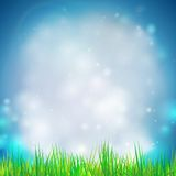 Abstract background with grass vector illustration. Vector design for print or web Stock Image