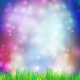 Abstract background with grass vector illustration Stock Photo