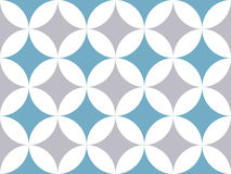 Abstract background. Gray and blue circles seamless pattern. Vector background Royalty Free Stock Photography