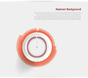 Abstract background. Gray Circles and. Clock. design vector illustration