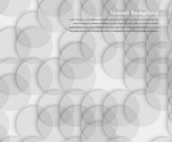 Abstract background. Gray Circles. And white design stock illustration