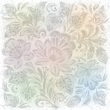 Abstract background with gray floral ornament. Abstract grunge background with gray floral ornament on white royalty free illustration