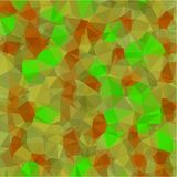 Abstract background from gray and green and brown and yellow color light and dark fragments in the style of low-poly. Abstract background of small triangles Royalty Free Stock Photos