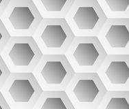 Abstract background gray hexagons. Honeycomb. Vector, seamless repeating pattern, mosaic Stock Photo