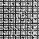 Abstract background of gray squares. Wallpapers for web sites. Small rectangles are connected. New technologies. 3D. Illustration Stock Photo