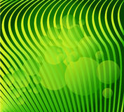 Abstract background green. Lines and bubbles,  vector stock illustration